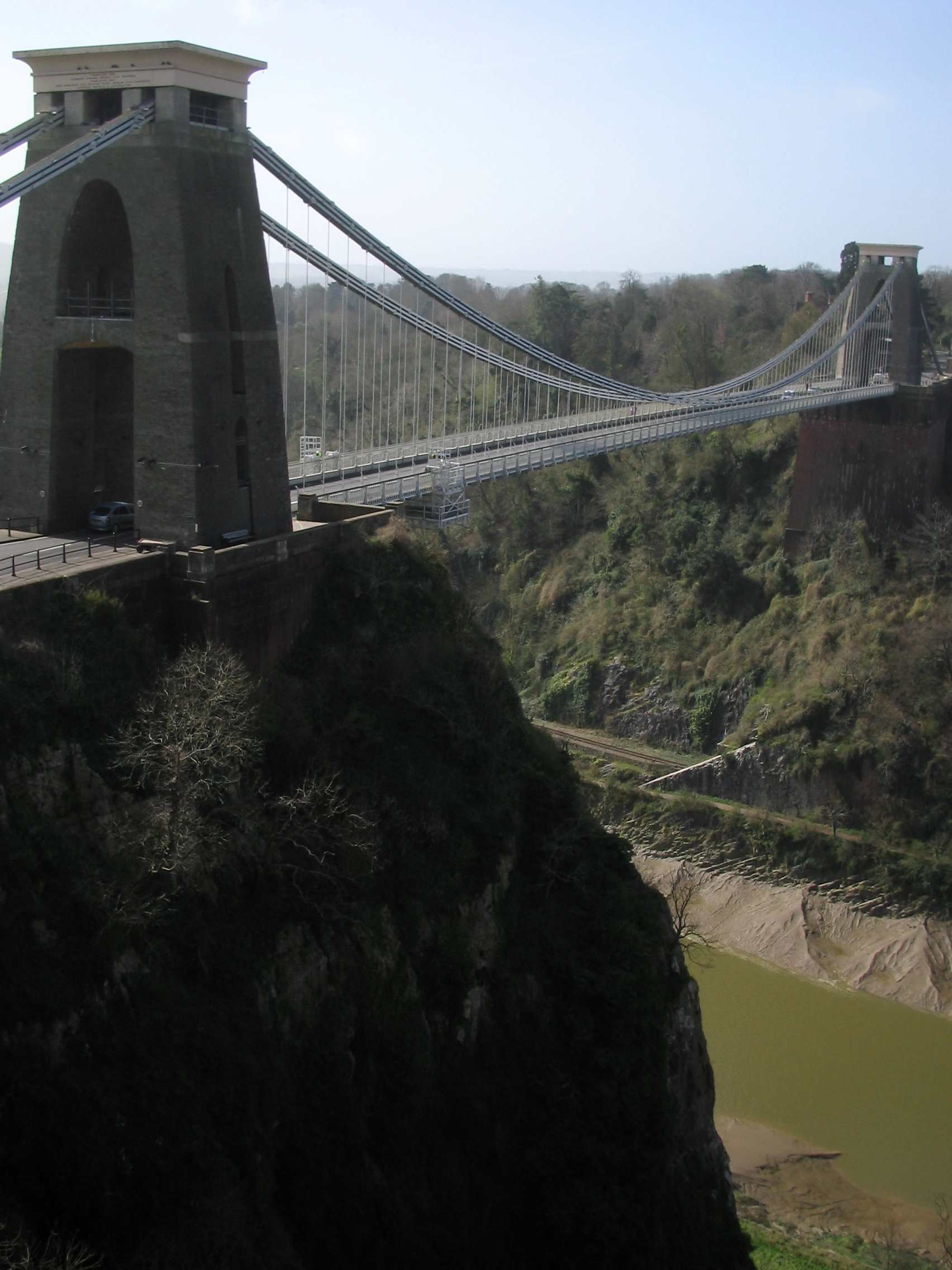 suspension bridge A suspension bridge is a type of bridge that has been made since ancient times as early as 100 ad some simple suspension bridges, for use by pedestrians and livestock, are still constructed, based upon the ancient inca rope bridge suspended from two high locations over a river or canyon, simple suspension bridges follow a.