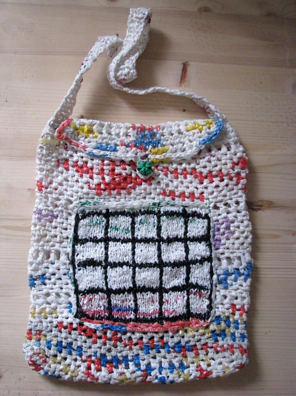 Crochet Pattern For Bags Plastic : plastic bag