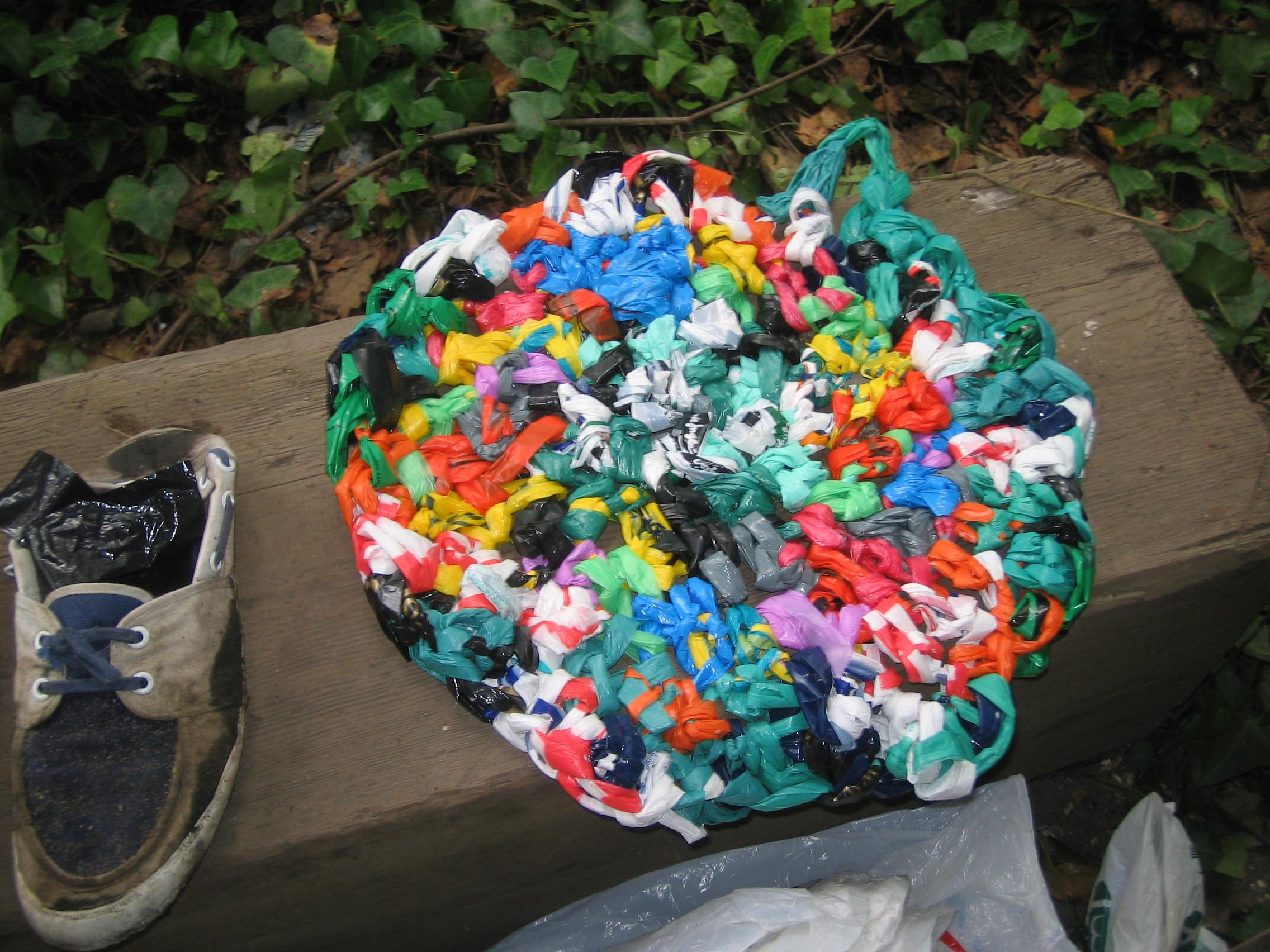 Finger Crochet Plastic Bags