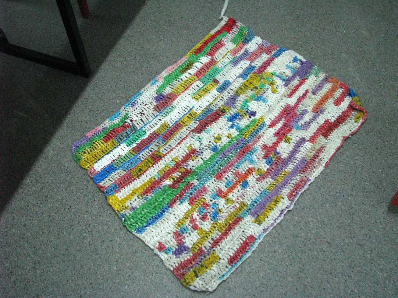 Crocheting Mats From Plastic Bags : Grocery+Bag+Mats Plastic Bag Mat
