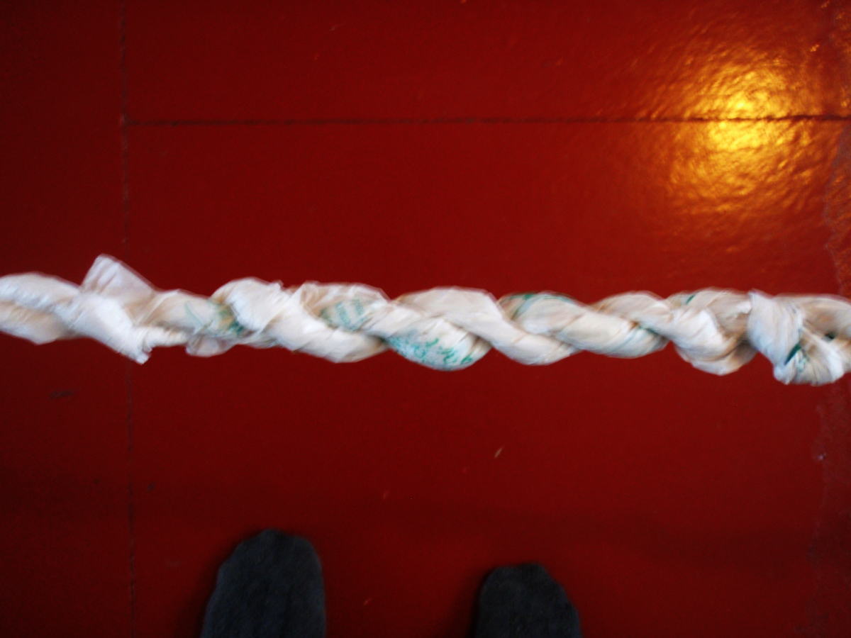 Plastic bag rope